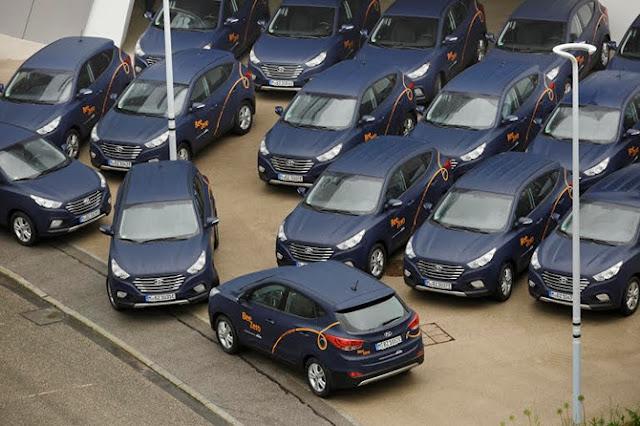Hyundai triển khai dịch vụ cho thuê xe không khí thải