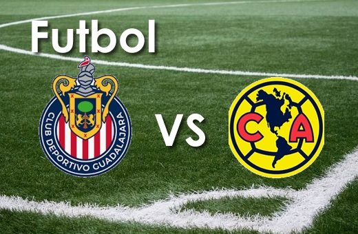 Cancha de Futbol Soccer con Escudo de Chivas y America
