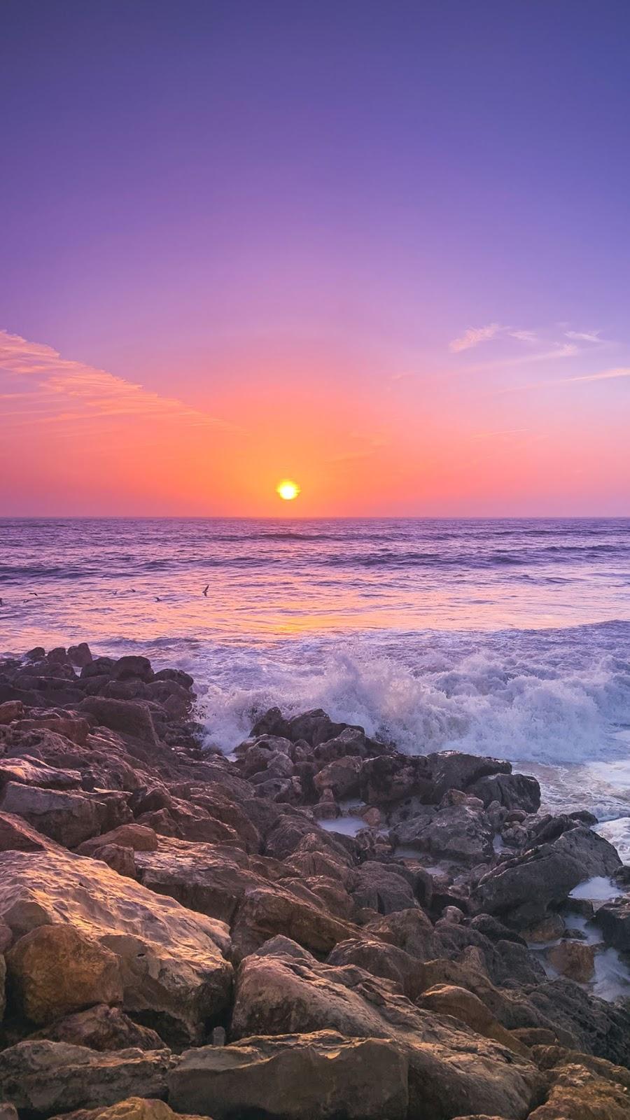 Sunset in the twilight sky