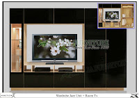 Lemari minimalis model tv unit Jazz