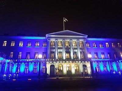 Imagen la Residencia del Presidente de Finlandia en el Centenario de su Independencia