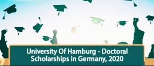 University Of Hamburg Doctoral Scholarships 2020 । Germany
