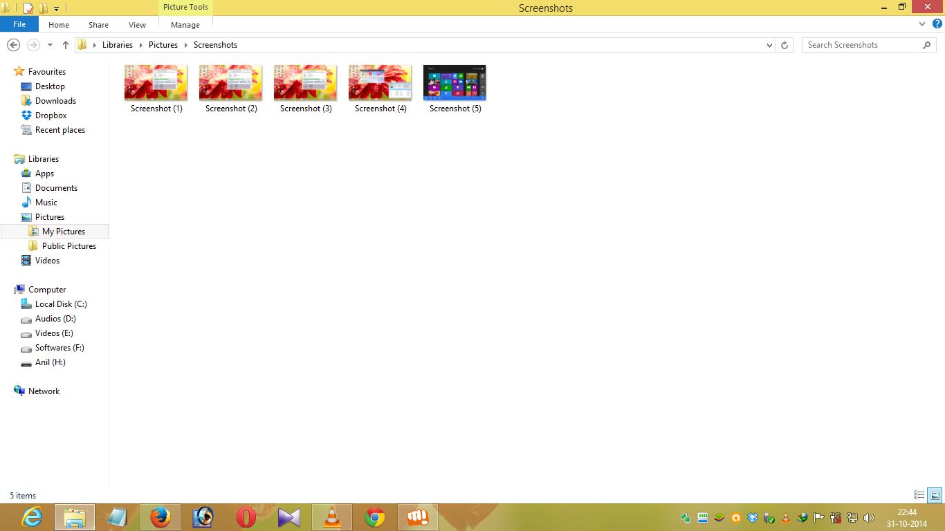 take screenshoot in windows 8 and 8.1