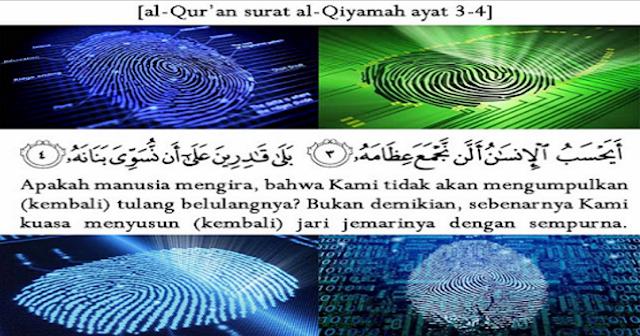 Subhanallah! Inilah Mukjizat Al-Quran tentang Sidik Jari Sebagai Identitas