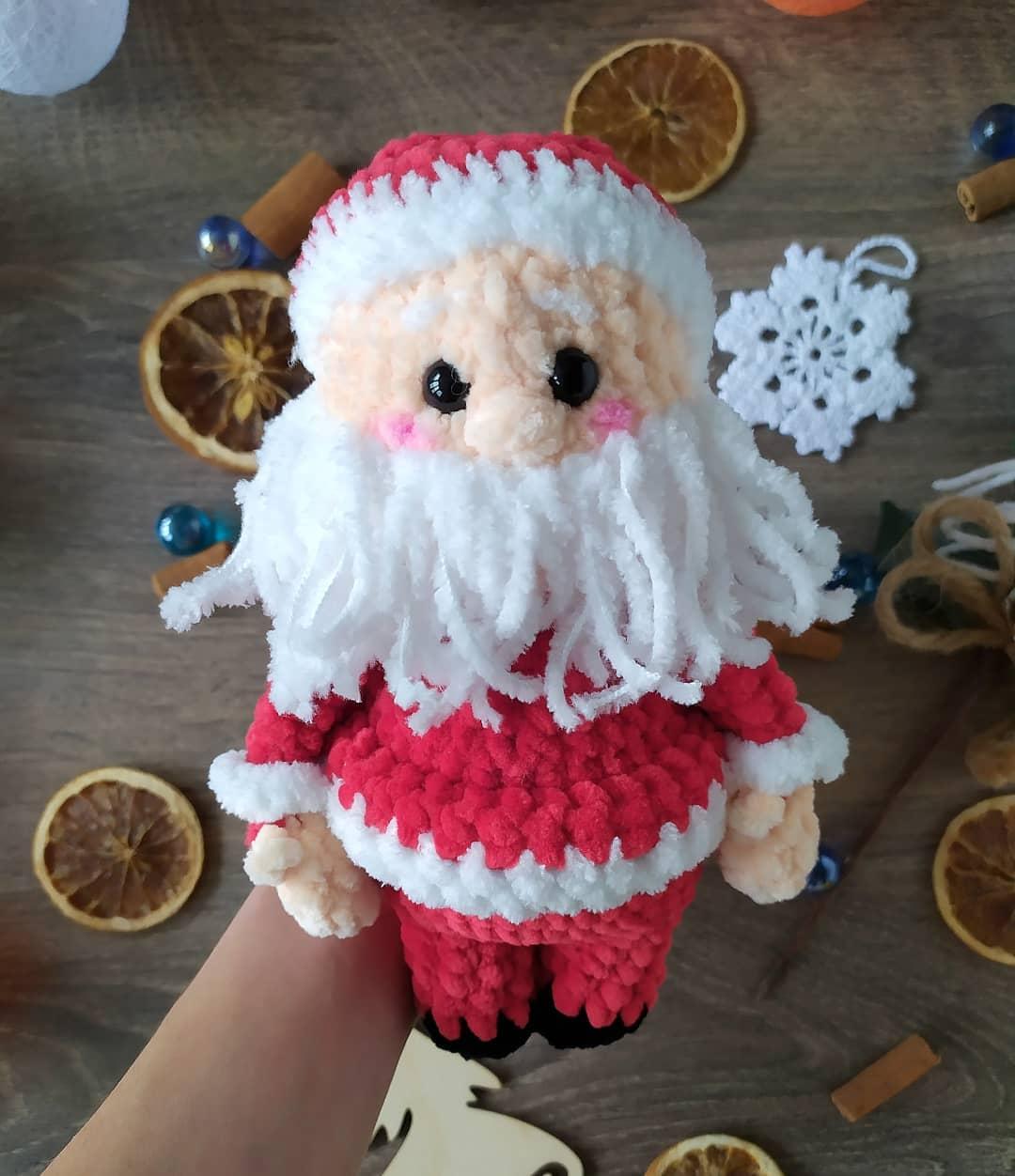 Вязаный Санта Клаус схема крючком
