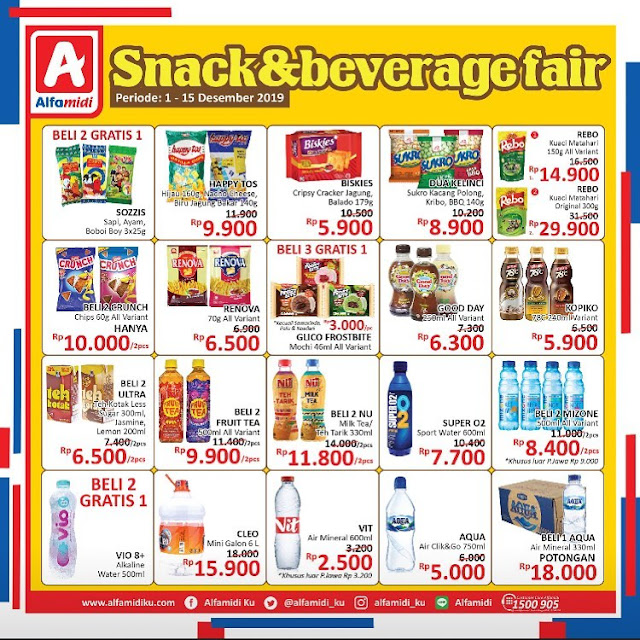 #Alfamidi - #Promo Katalog Snack& Beverage Periode 01 - 15 Desember 2019