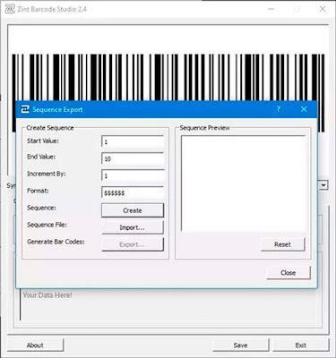 Zint Barcode Studio Pembuat Barcode Dan QR Code Gratis Untuk Windows 10