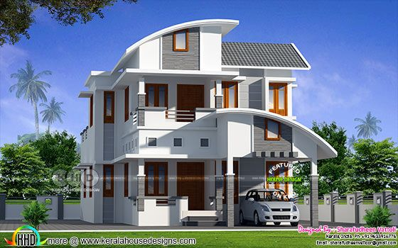1783 square feet 4 bedroom modern home plan