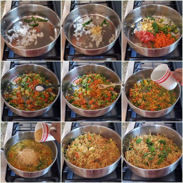 images of Semiya Biriyani / Vermicelli Biryani / Seviyan Biryani / Semiya Vegetable Biryani