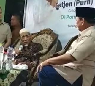 Berita Terhangat Dikunjungi Prabowo, Ini Doa Mbah Moen