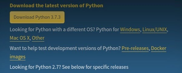 Python Latest Version 3.7.3