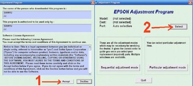 Menggunakan Resetter Epson Stylus T11