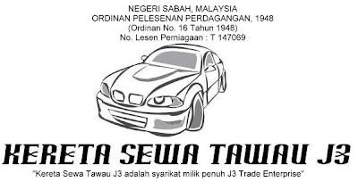 Kereta Sewa Tawau J3 trading license