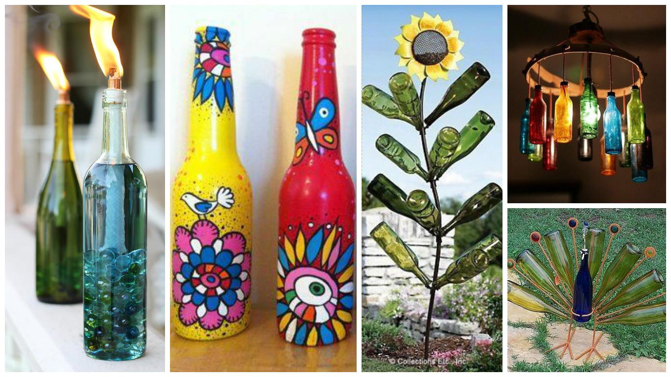 11 ideas decorativas para el hogar con botellas de vidrio for Ideas decorativas hogar