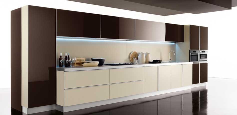 Cocinas lineales: grandes y pequeñas - Cocinas con estilo