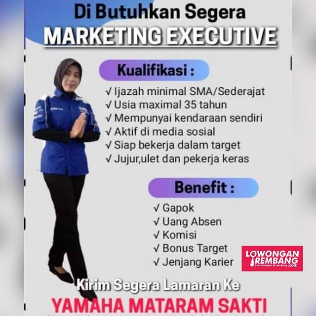 Lowongan Kerja Marketing Executive Yamaha Mataram Sakti Rembang