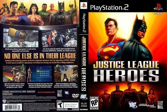 Descargar Justice League Heroes NTSC-PAL Playstation 2 Formato iso: Es un videojuego de rol de acción desarrollado por Snowblind Studios y publicado por Warner Bros.