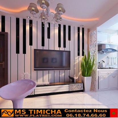 gypsum new tv plasma decoration  2021