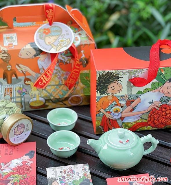 Purple Cane CNY Ox-picious Tea Gifts Hampers, Lucky Fortune Tea Gift Set, Purple Cane, Purple Cane Tea Review, CNY Hamper, Tea Set Gifts, Food