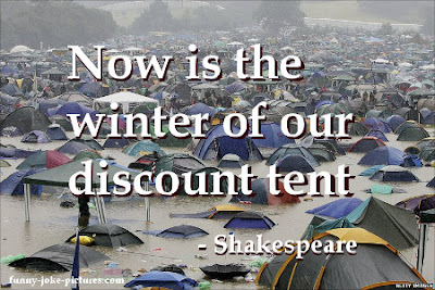 Now is the winter of our discount tent - Glastonbury Britain UK