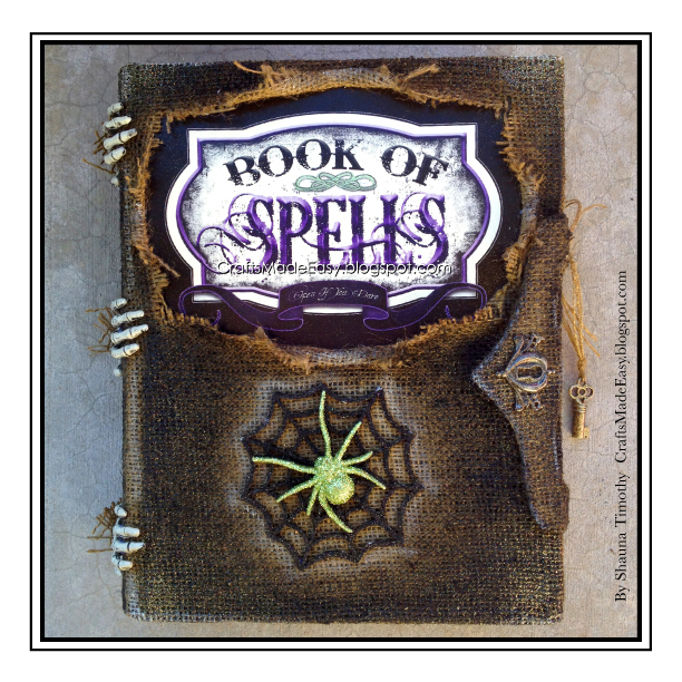 Halloween Book Cover Ideas : Crafts made easy book of spells