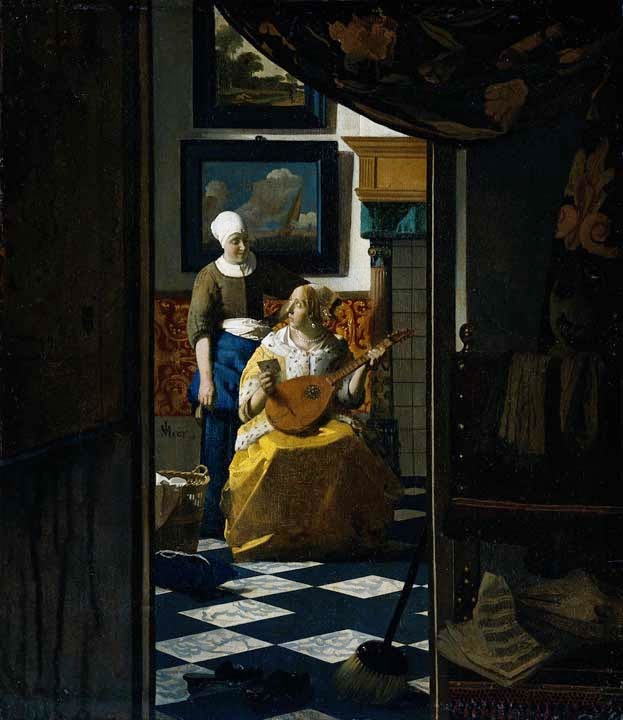 A Carta de Amor - Vermeer, Jan e suas principais pinturas