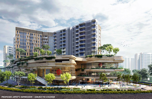 Sengkang Grand Residences - Build Facade