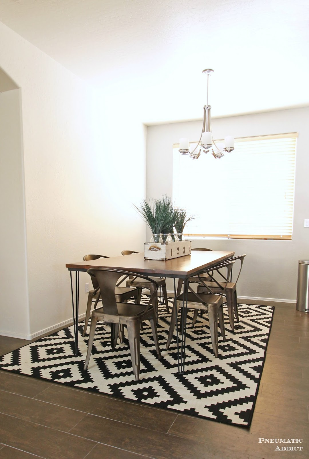 large hairpin dining table make kitchen table Ready to make your own Feel free to pin the image below