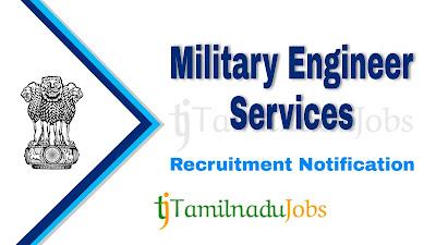 MES Recruitment Notification 2021, central govt jobs , MES Notification 2021, Latest MES Recruitment Notification update,