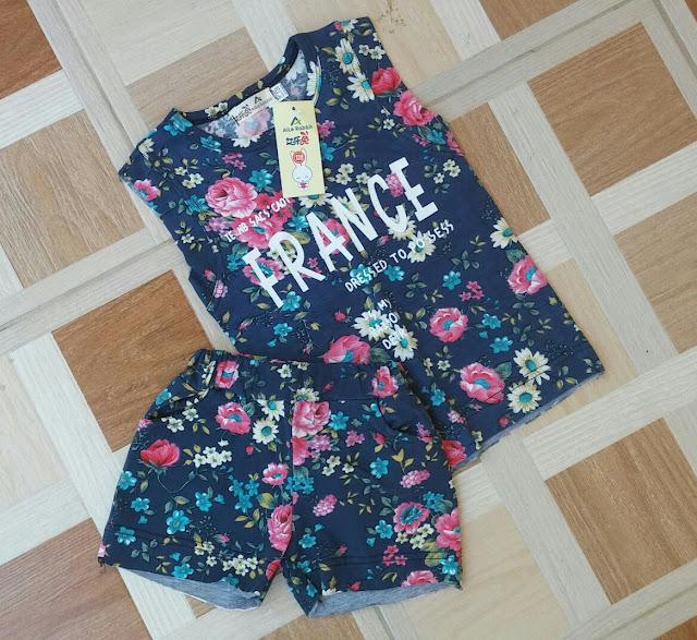 Conjunto Infantil Feminino Floral
