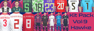 PES 2018 Kitpack vol 9 Season 2018/2019 by Hawke