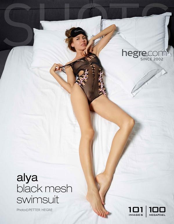 [Hegre-Art] Alya - Black Mesh Swimsuit