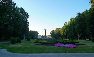 Полтава. Кругла площа. Корпусний сад