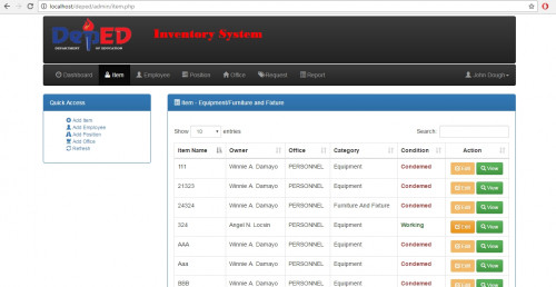 download free equipment inventory system coderspage