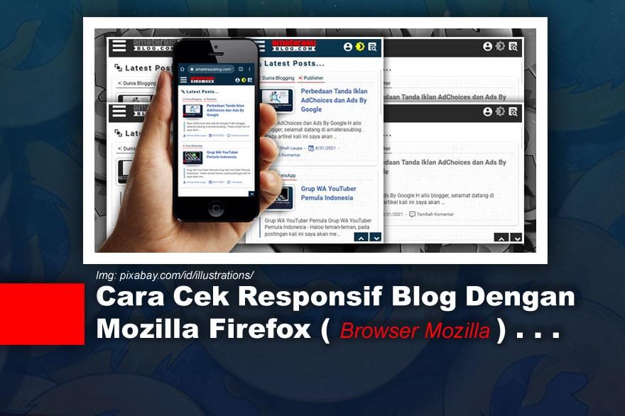 Cara Cek Responsif Blog Dengan Mozilla Firefox