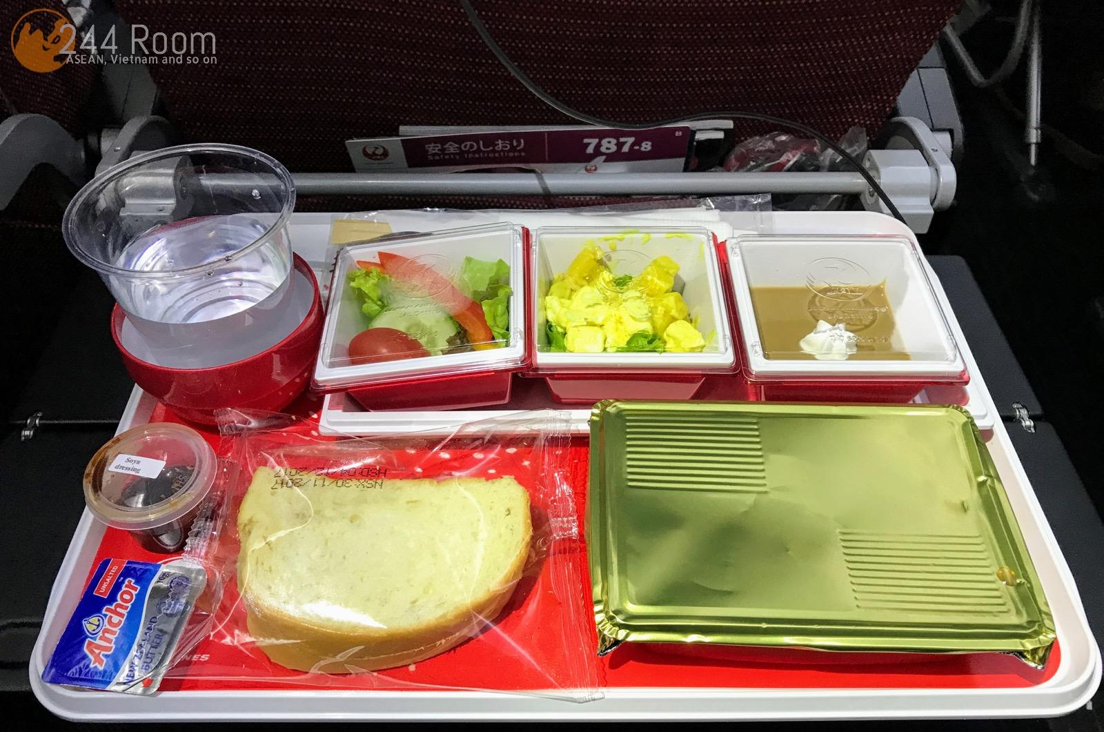 JALエコノミークラス機内食 JAL Economyclass-flight-meal