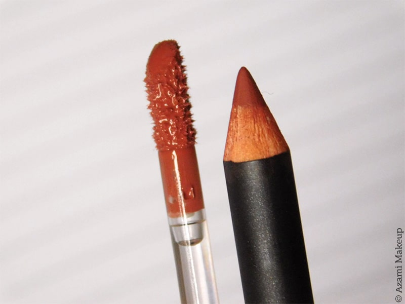 M.A.C. Cosmetics - Spice Lipliner & Lipgloss Combo - Review & Swatches - Avis Crayon à lèvres - Nude Gloss
