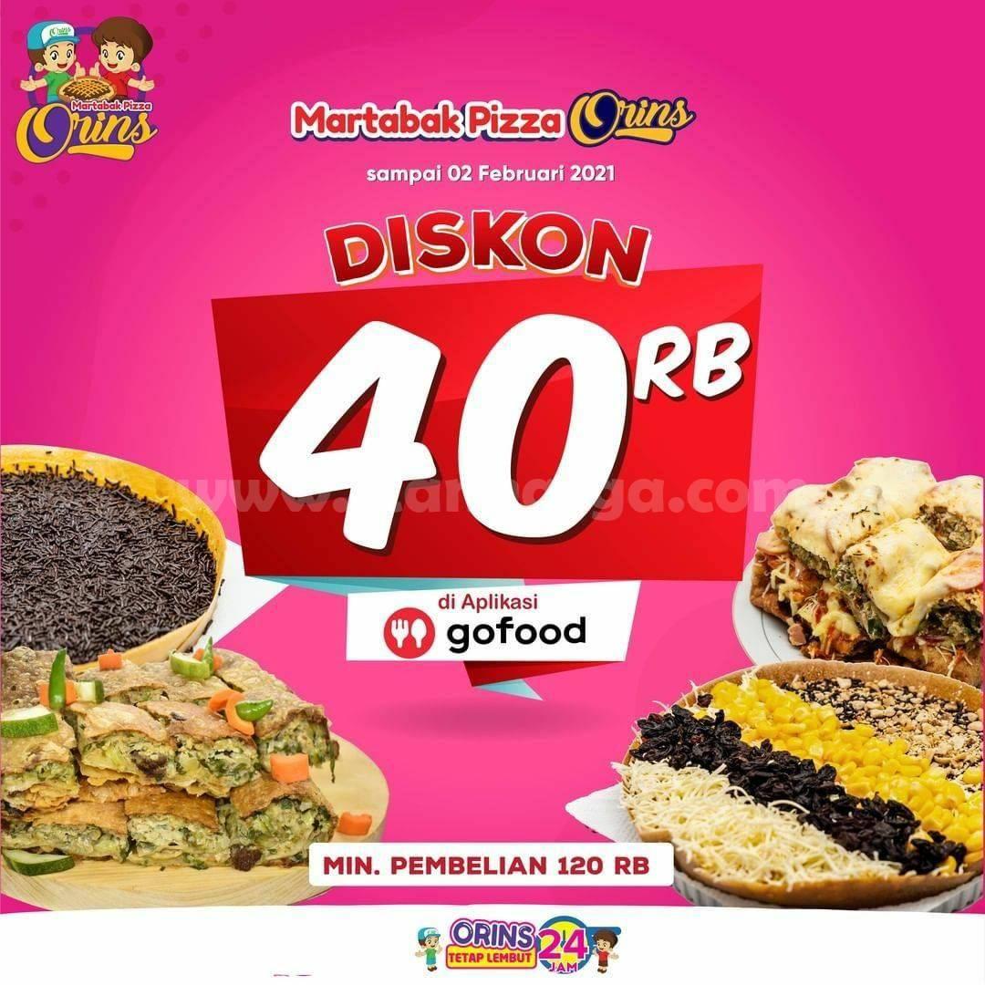 Martabak ORINS Diskon Rp 40.000 khusus pemesanan via Gofood