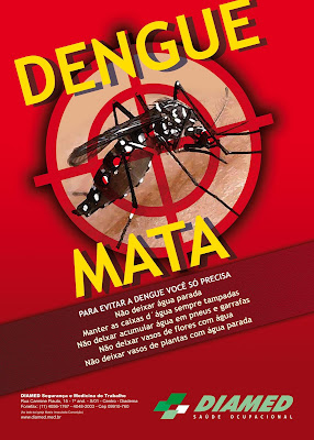cartaz todos contra o mosquito da dengue