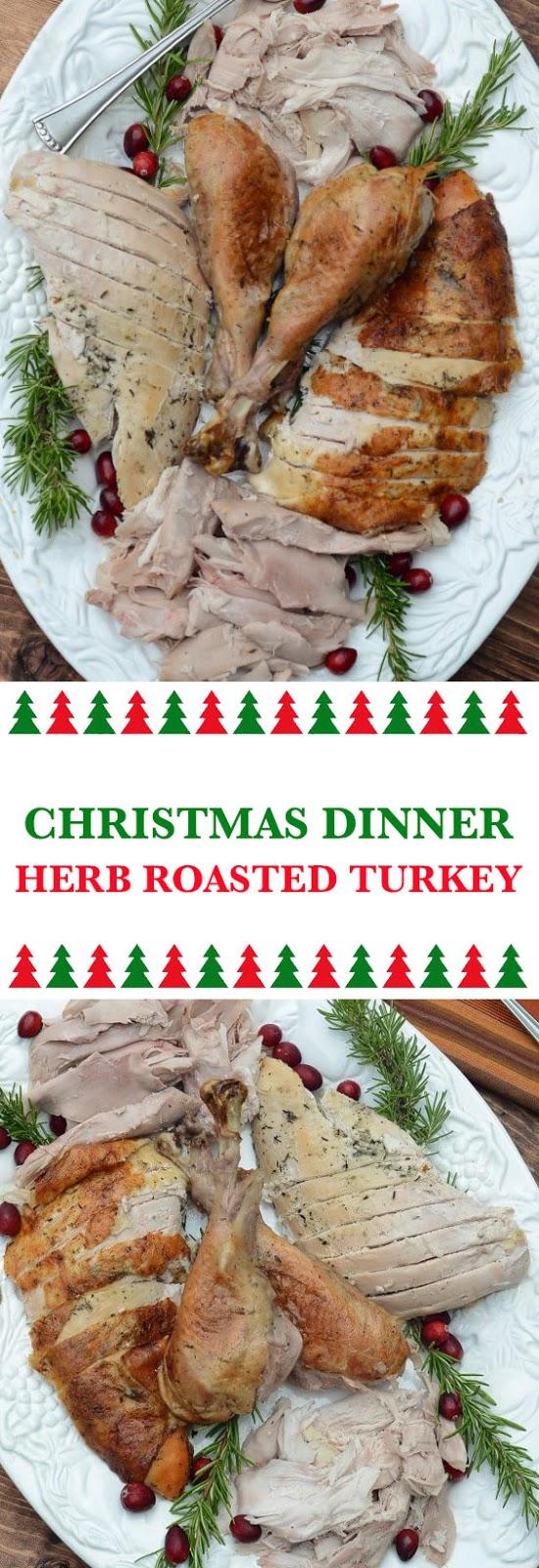 Christmas Dinner Herb Roasted Turkey