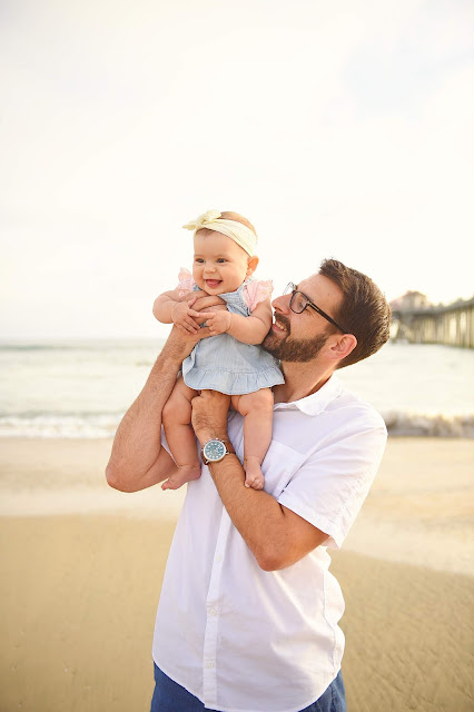 daddy and daughter for family beach pictures