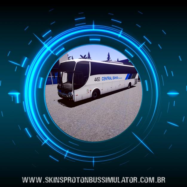 Skin Proton Bus Simulator - G6 1200 MB O-500 RS 4X2 Viação Central Bahia