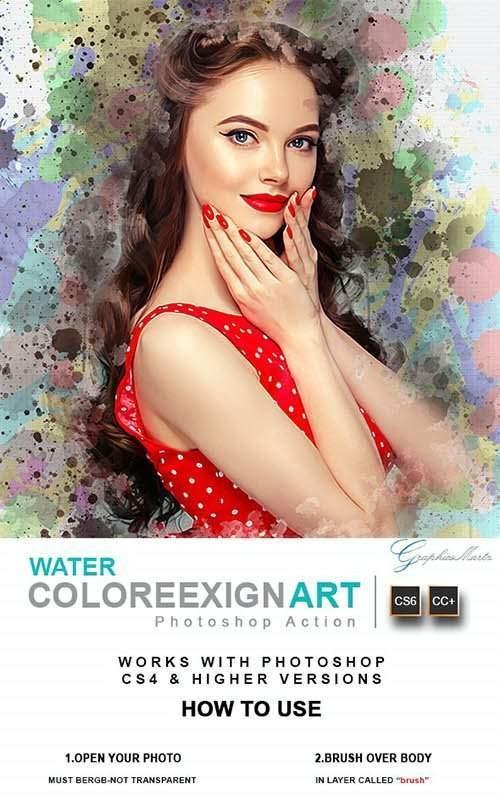 Water ColoreeXign Art[Photoshop][Action][28337654]