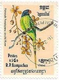 Selo Periquito-dos-himalaias
