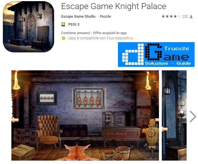Soluzioni Escape Game Knight Palace livello Unico | Trucchi e Walkthrough level