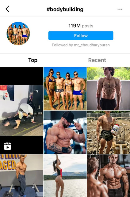 Bodybuilding hashtags for Instagram