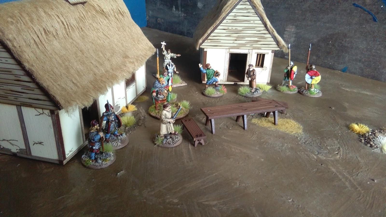 Mark S Wargaming And Boardgaming Blog Anglo Saxon Hovels