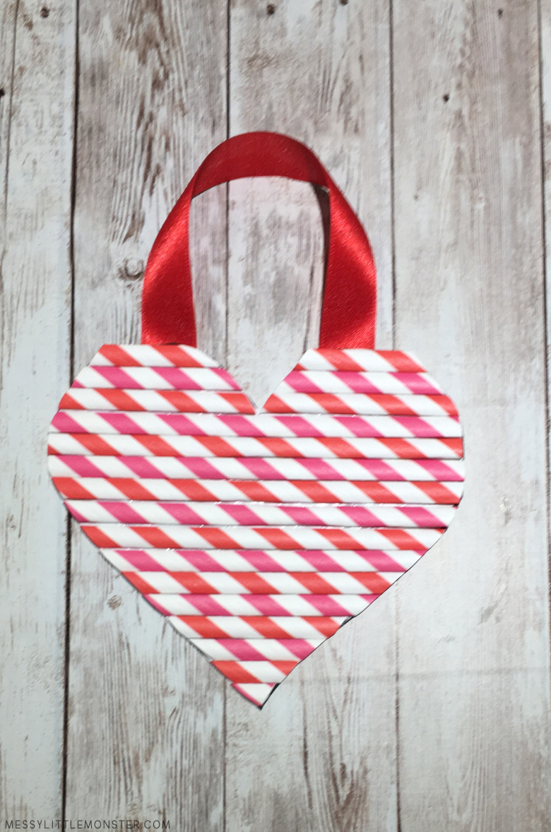 hanging heart craft for kids
