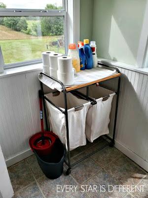 Minimalist Montessori Home Tour: Laundry Station