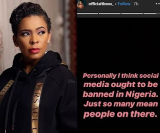 Tboss urges for social media to be banned in Nigeria